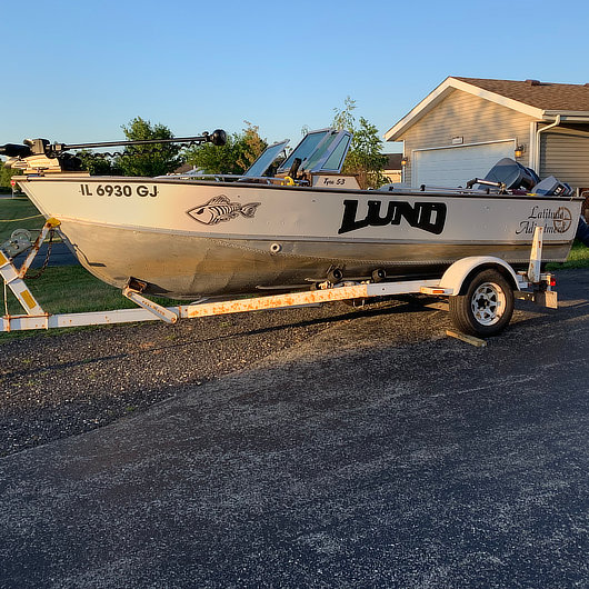Boat wrap after photo by Crazy Joe's Wraps