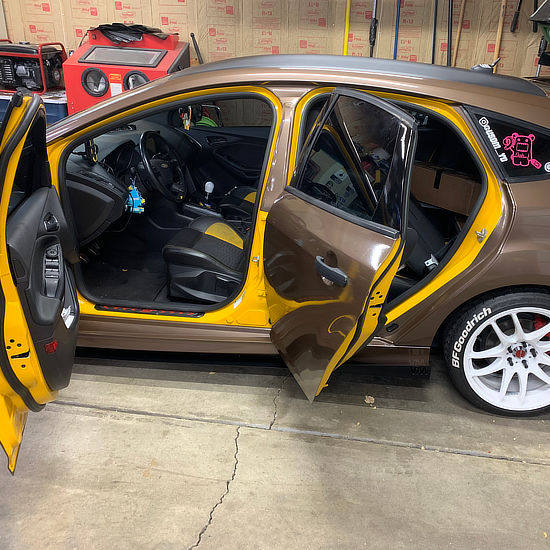 full color vinyl wrap on Ford - interior view