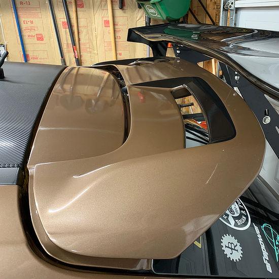 full color vinyl wrap on Ford - rear spoiler