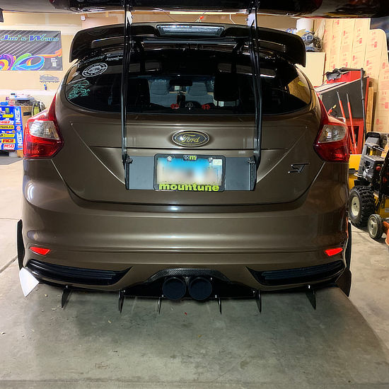 full color vinyl wrap on Ford - rear view