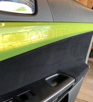 green car interior vinyl wrap - Crazy Joe's Wraps - South Beloit, IL