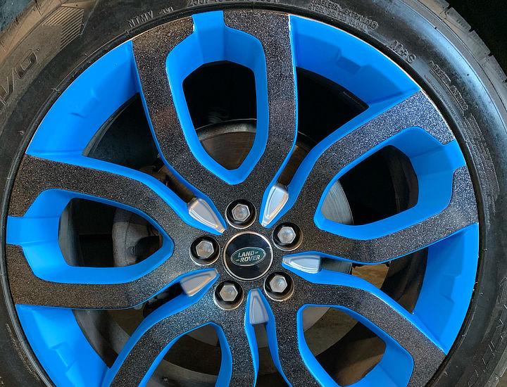blue vinyl wrap for rims