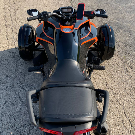 Can-Am motorcycle wrap driver view