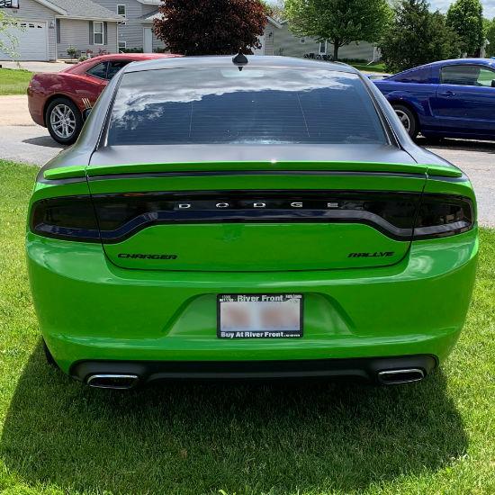 Dodge Charger Hulk Car Wrap Back View