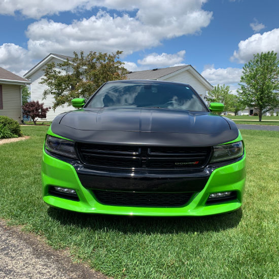 Dodge Charger Hulk Car Wrap Front View