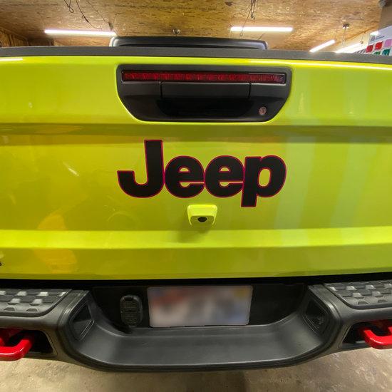 Jeep Gladiator Green Vinyl Wrap Back View