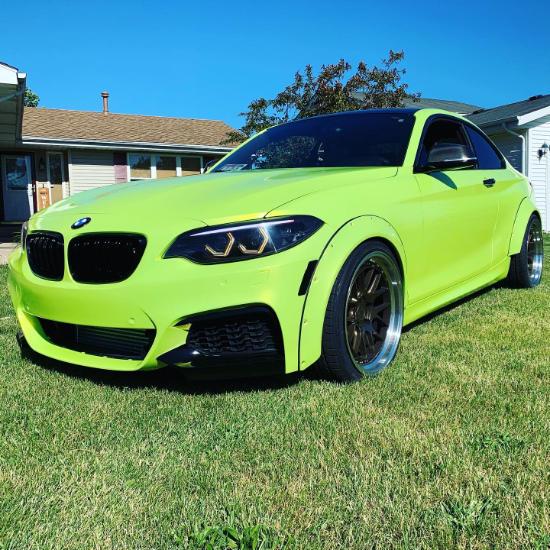 BMW Green Car Wrap