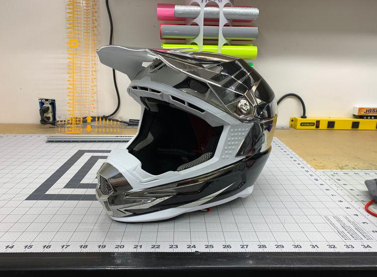 Chrome Vinyl Wrap for Helmets