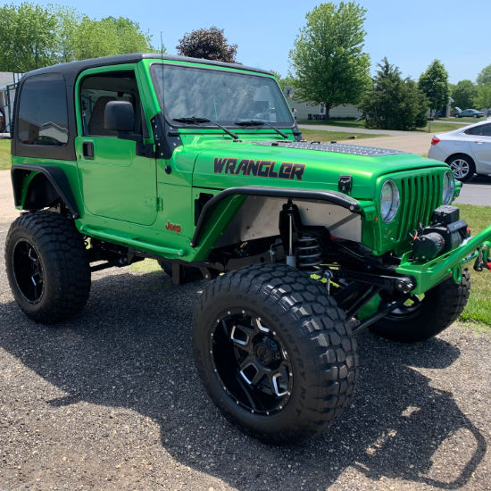 Jeep Wrangler Green Vinyl Wrap Shop