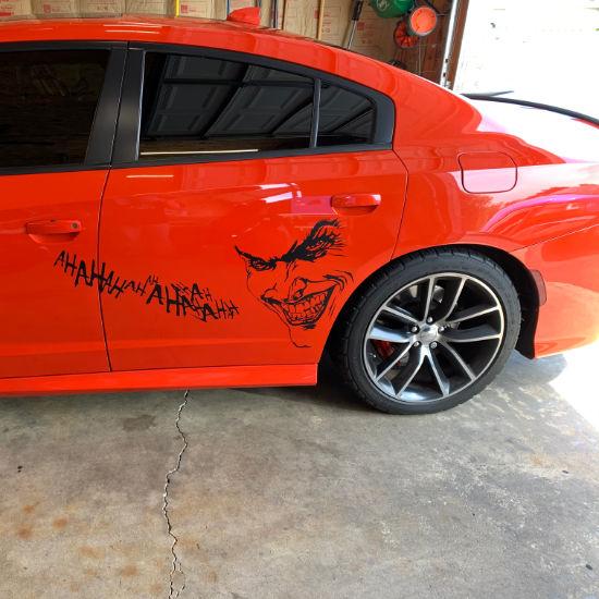 Joker vinyl car decal