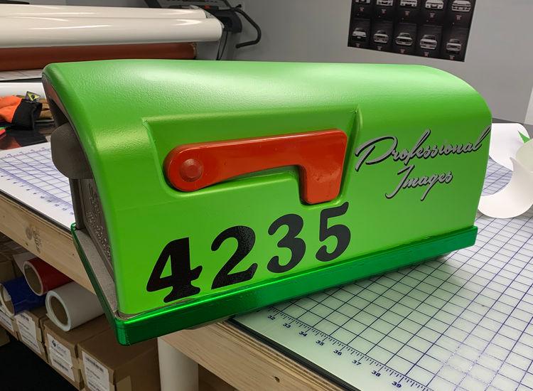 Mailbox vinyl wrap