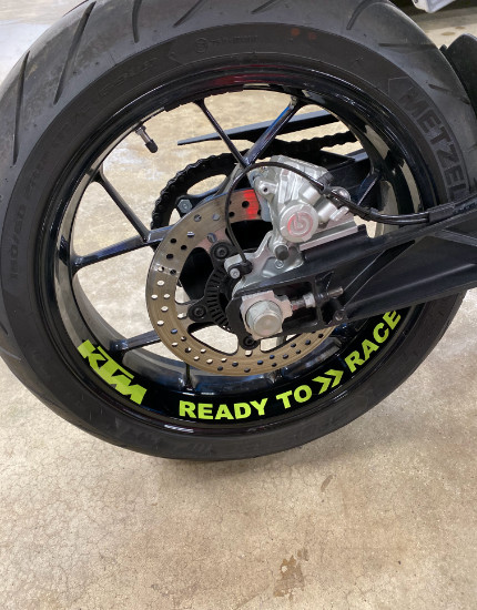 Motorcycle Wheel Wraps