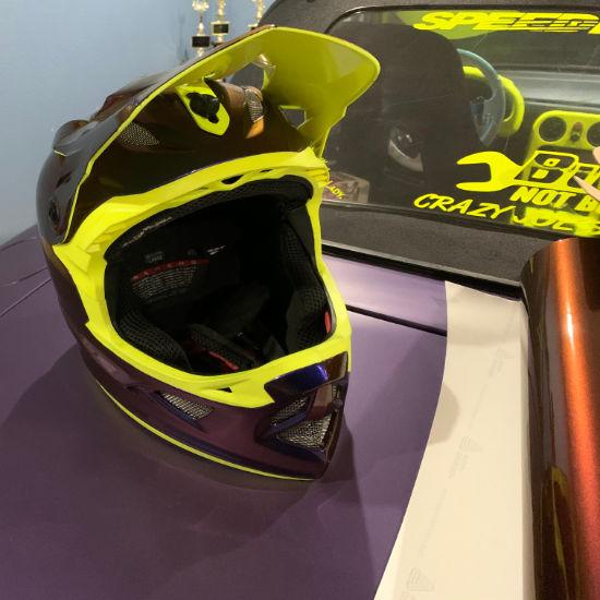 Racing Helmet Vinyl Wrap