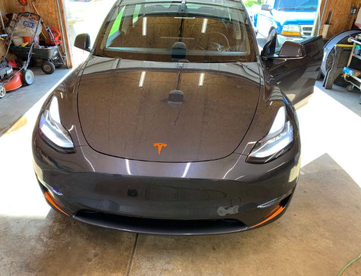 Tesla Orange Chrome Delete