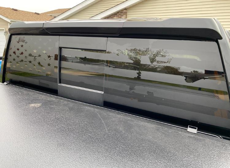 Truck Back Window American Flag Vinyl Decal