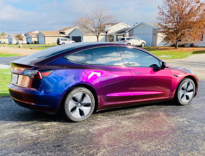Chameleon Tesla Car Wraps