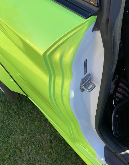 Green Wrap on BMW
