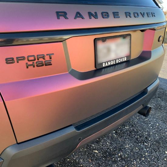 Chameleon Range Rover Truck Wrap Rear Bumper
