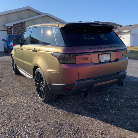 Chameleon Range Rover Truck Wrap Rear View